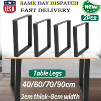 "Black 2Pcs 17""/28"" Industry Dinner Table Leg Steel Bench Legs Desk DIY Furniture"