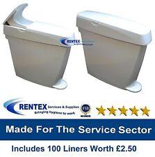 Sanitary Bin Hygiene Disposal Unit + 100 Feminine Waste Disposal Sani Bin Liners