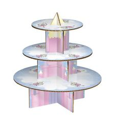 3 Tier Fairy Castle Cake Stand, Cardboard Cup Cake Stand 36cm