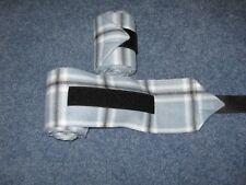 New set of 2 blue/black/white plaid horse polo wraps (horse/pony leg wraps)