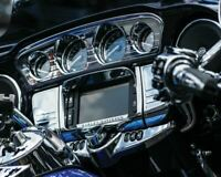 Kuryakyn Chrome Deluxe Tri Line Stereo Trim Cover Harley Touring FLH/T 2014 up