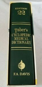 Edition 22 COLOR Illustration TABER'S CYCLOPEDIC MEDICAL DICTIONARY F A DAVIS