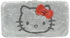 HELLO KITTY LONG WALLET Silver Mesh