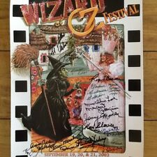 Wizard of Oz 12 SIGNED 2003 Poster Munchkins Historian Judy Garland Classic Film