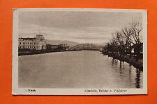 Serbien Srbija AK Nisch Nis 1918 Citadelle Brücke Präfektur Ortsansicht Häuser +