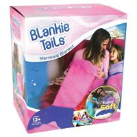 Tails Mermaid Tail Blanket for Adults and Teens (Pink and Periwinkle)