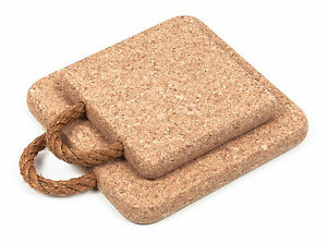 Square Certified Cork Hot Pot Pan Stands Pads Trivets Mats with Rope Handle