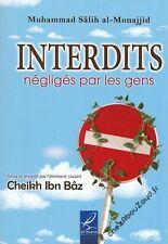 Interdits Négligés Par Les Gens livre islam - NEUF