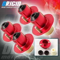 RED 4 PCS  EF EG EK DC2 B20 COILOVER SHOCKS STRUT TOWER TOP MOUNT TOP HATS HAT