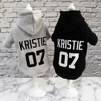 Warm Personalized Dog Hooded Jacket Coat Name Number Print Dog Clothes Winter