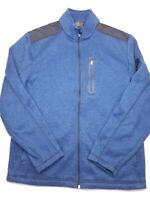 Greg Norman For Tasso Elba Men's Full-Zip Blue Fleece Jacket Size Medium P11
