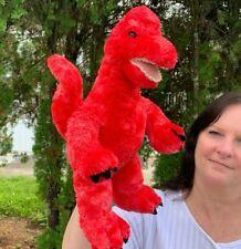 "Build A Bear Brachiosaurus Red Dinosaur 16"" Plush Stuffed Animal Toy"