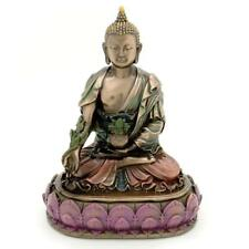 "MEDICINE BUDDHA STATUE 6"" Buddhist Wellness Deity Bronze Resin HIGH QUALIITY"