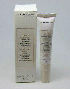 KORRES GREEK YOGHURT Under Eye Priming Moisturiser 0.51oz/15ml NIB