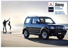 SUZUKI JIMNY accessori 2011 UK Opuscolo Vendite sul Mercato PIEGA