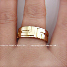 Real Genuine Solid 9ct Yellow Gold Wedding Women Men Unisex Engagement Band Ring