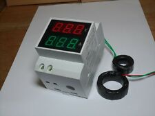 Digital AC80-300V 0-200A LCD DISPLAY PANEL VOLT/AMP Meter With 200a CT