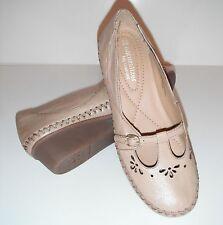New Naturalizer Narah Moonstone Leather T-Strap Wedge Comfy Shoe sz 7M  $97