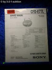 Sony Service Manual CFD E77L Cassette Corder (#4249)