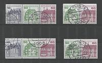 Berlin W 75 - 78 gestempelt Zusammendrucke Burgen und Schlösser C + D 661,615,53