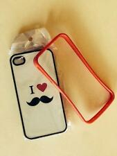 iPhone 4/4s cases (half case and i love moustache)
