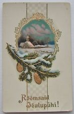1910s Imperial Russia MERRY CHRISTMAS Color PC
