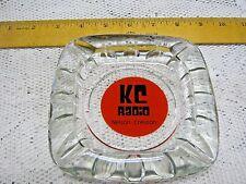 KC Radio Nelson-Creston Glass Clear Crystal Ash Tray Decorative Vintage
