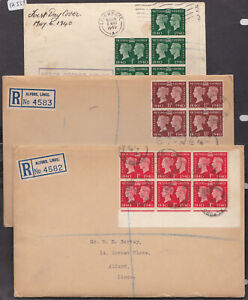 GB 1940 Stamp Centenary Block Used  FDC SG 479 480 481 FDI Covers