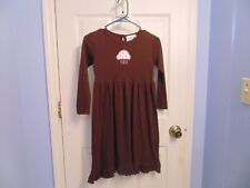 Just Ducky girls dress 7/8 brown with cupcake