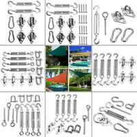 Stainless Steel Sun Fixing Fittings Sail Shade Kits Garden Awning Canopy