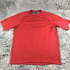 Rei Short Sleeve Athletic Outdoor T-Shirt Hiking Mens Red Grey Sz L