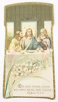 Vintage Antique Die Cut Holy Prayer Card 1917 Jesus Religious Catholic Desciples