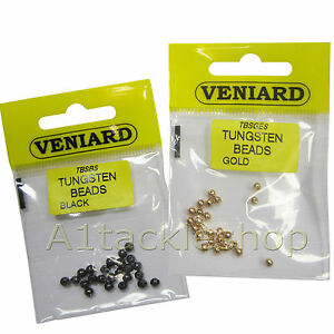25 Veniard Slotted Beads Tungsten Fly Tying Hooks -for Trout & Salmon Flies