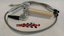Banshee 33mm 34mm 35mm Keihin Terrycable Braided Twist Throttle Cable & Throttle