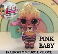LOL Surprise! BLING GLITTER 🌟Doll PINK BABY • B-012 Nuova Omg Top Rara Glam Lil