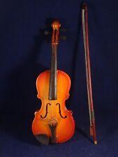 Ancien jouet musical enfants violon archet bois instrument étui années 30