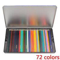 72 color Pencils Water Soluble Colored Art Drawing Pencil Wood Professional