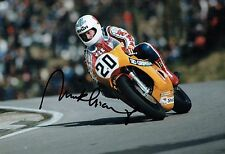 Mick GRANT Signed 12x8 Photo Autograph AFTAL COA Honda Motorbike Brands Hatch