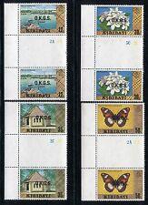 Kiribati O16-O19, MNH, 1983 Insects Buterflies Gutter Pairs. x26559