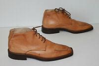 Boots Homme Vintage Tout Cuir Ocre Nuancé Doublées Cuir T 41 TBE