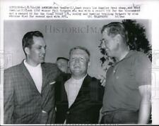 1962 Press Photo Bob Gealby, Fred Hawkins & Phil Rodgers the 1962 Open Champion