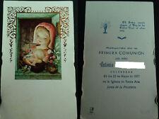 ESTAMPA PRIMERA COMUNION PARROQUIA SANTA ANA JEREZ 1977 HOLY CARD SANTINI CC1265