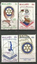 MALAWI 1980 ROTARY Sc#362/5 COMPLETE VF USED SETS 1727