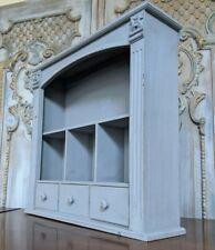 New VINTAGE Grey French Shabby Chic Bookcase Shelf Cabinet Drawers Unit Storage