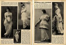 Dance Dresses For Prom and society * Text & Image Document 1914