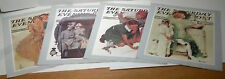 Set of 4 Vintage Saturday Evening Post, Norman Rockwell 1983 Lithographs.