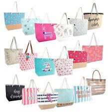 Womens Shoulder Beach Bag Large Summer Tote Shopping Travel Canvas Reusable