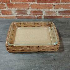 VTG PYREX Baker In a Basket 3 Qt Utility Dish Box w/ Woven Basket 2330