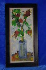 Arnold Blome: stilisierte Vase mit roten Blumen