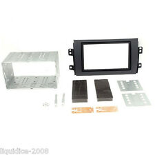 CT23FT06A SUZUKI SX4 MATT BLACK 2006 DOUBLE DIN FASCIA FACIA ADAPTER PLATE KIT